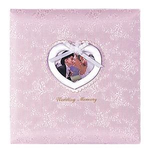 【送料無料】◆ ナカバヤシ フエルアルバム婚礼用 ウエディングメモリー P(ピンク) 名入れ刺繍込み Lサイズ ア-LK-609/N