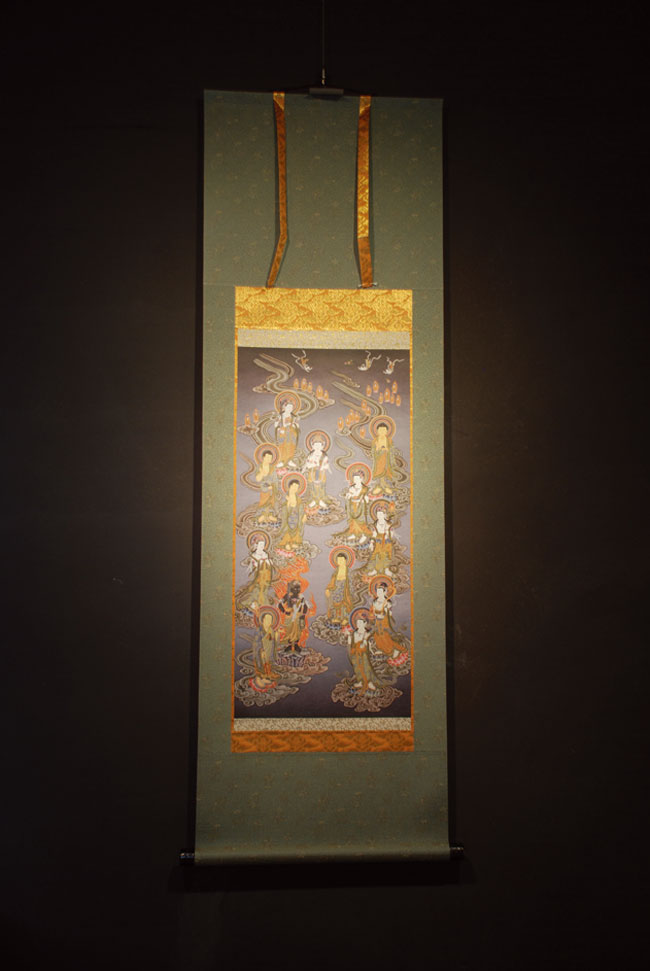 【送料無料】◆十三仏 仏画掛け軸半切サイズ