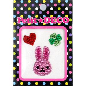 ポップでキュートなデコシールでデコしよう☆ Petit DECOジュエリーデコシールウサギ 商店 フェイスBPD-09 激安メガセール 超人気