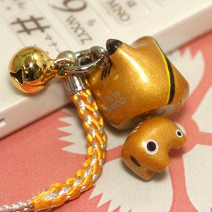 2/17완매--◆후쿠시마 한정 헬로 키티(HELLOKITTY) 금베개키티 뿌리 내리기 스트랩