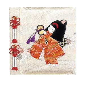【送料無料】◆ ナカバヤシ フエルアルバムDigio 誕生用 京人形 女の子 名入れ刺繍込み Lサイズ アH-LB-121