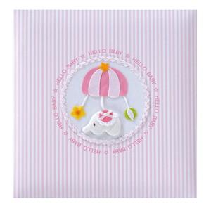 ◆ ナカバヤシ フエルアルバムDigio 誕生用 トイモービル ピンク 名入れ刺繍込み Lサイズ ア-LB-300