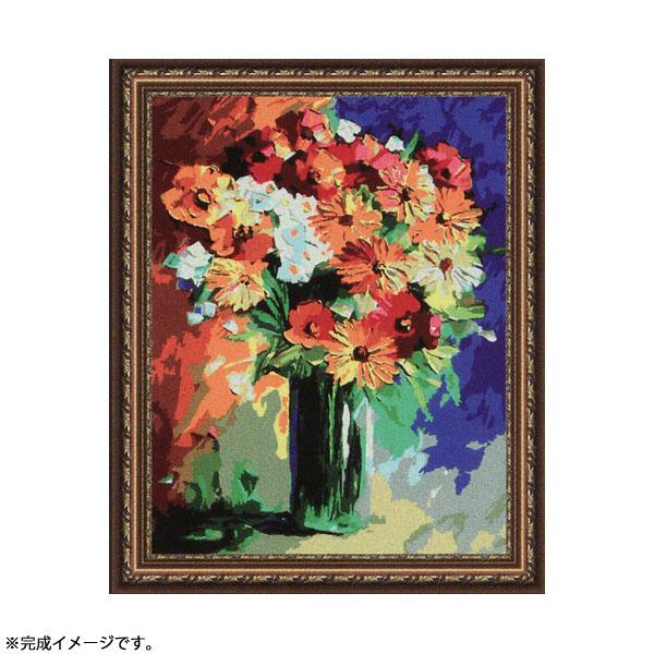 【送料無料】◆パズル絵画 絵具・筆付きF113