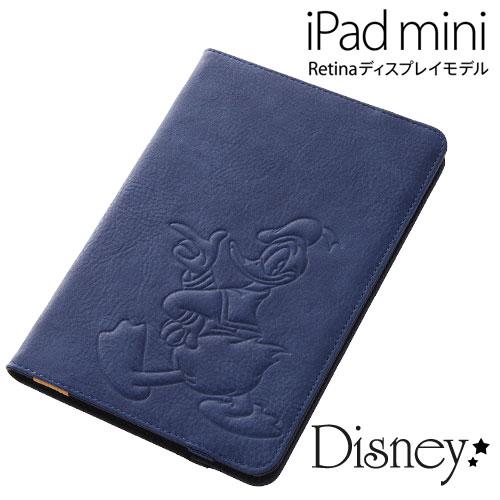 ☆◆ レイ・アウト ディズニー iPad mini Retina ディスプレイモデル専用 レザージャケット (合皮) ドナルド RT-DPM2A/DD