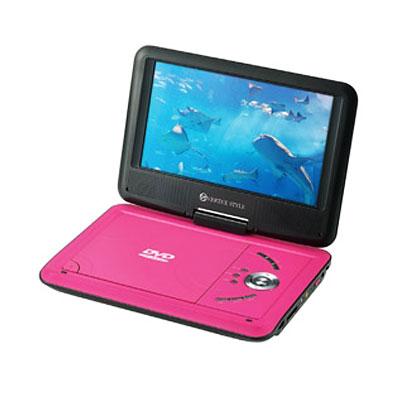 ◆ CPRM 可擕式 DVD 播放機可擕式 dvd 播放機 9 寸粉紅色 PDVD V092PK 02P19Jun15