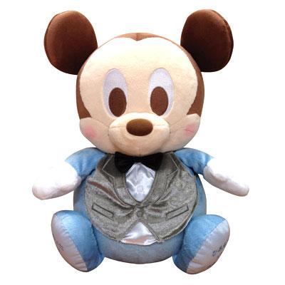 ☆◆【送料無料】 ディズニー ウエイトドール フォーマル ベビーミッキー 【disney/ミッキーマウス/ウェディング/体重/ぬいぐるみ/結婚式/ウェルカムドール/出産祝い/結婚祝い】