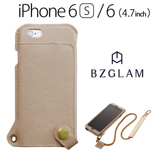 【送料無料】☆◆ BZGLAM iPhone6s iPhone6 (4.7インチ) 専用 ウェアラブルレザーカバー アイボリー i6S-BZ13【iphone/IPHONE/アイフォン/シックス/エス/ケース/カバー/ジャケット/手帳型/ブックタイプ/レザー】