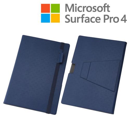 ☆◆ レイ・アウト Microsoft Surface Pro 4 専用 マルチブックレザーケース ネイビー RT-SPRO4LC10/N