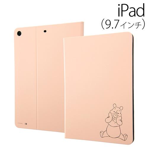 ☆◆ イングレム ディズニーキャラクター 9.7インチ iPad 2017 専用 タブレットブックカバーケース プー16 IJ-DPA8LC/PO016