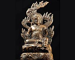 【送料無料】◆仏像不動明王 銅色仕上げ[代引き不可]