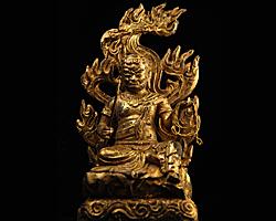 【送料無料】◆仏像不動明王 古色仕上げ[代引き不可]