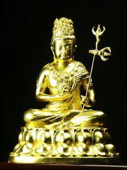 【送料無料】◆仏像丑・寅歳 干支の守り本尊虚空蔵菩薩 金色[代引き不可]