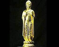 【送料無料】◆釈迦如来立像金色[代引き不可]