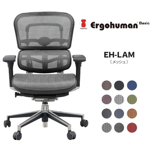 【メーカー直送】エルゴヒューマン ベーシック ロータイプ (メッシュ) EH-LAM【代引不可】
