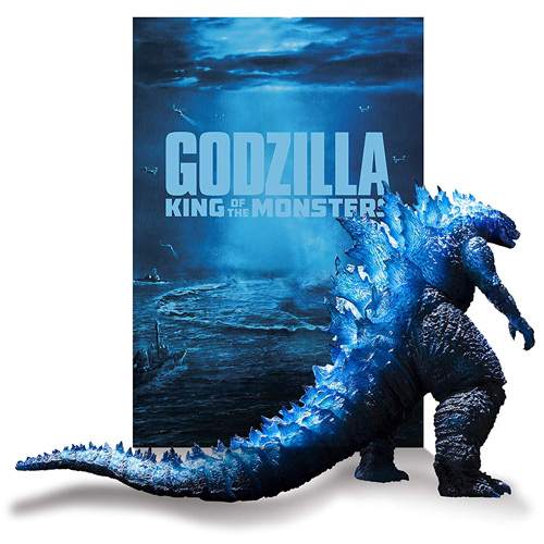 S.H.MonsterArts GODZILLA[2019] Poster Color Ver.+ディスプレイ用バックシート◎新品Ss【即納】