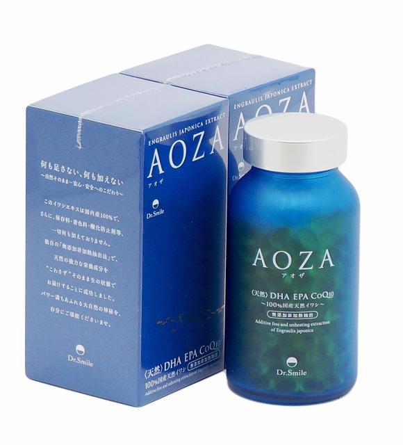 宅配送料無料 ドクタースマイル 正規認証品 新規格 AOZA アオザ 信託 300粒 天然DHA EPA CoQ10 100%国産天然イワシ