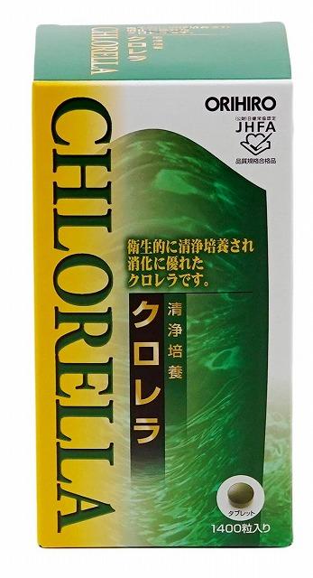 宅配送料無料 オリヒロ 約1400粒 清浄培養クロレラ 当店限定販売 贈り物