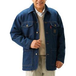 ※お取り寄せ商品です!【フランコ・コレツィオーニ デニムサファリジャケット アウター メンズ 紳士 シニア カジュアルジャケット 上着 ブルー 青 デニムジャケット】p18386
