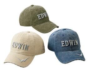 ※お取り寄せ商品です EDWIN 立体刺しゅう洗い加工キャップ 同サイズ3色組 通信販売 p17506メンズ 帽子 商店 紳士 カーキ ふつうサイズ 大きいサイズ カジュアル ベージュ シニア ネイビー