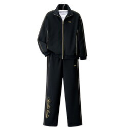※お取り寄せ商品です 安い L LL完売 秋冬 FILA ブラックジャージスーツ ブラック×ゴールド p14043 紳士 ジャージ上下セット メンズ NEW ARRIVAL