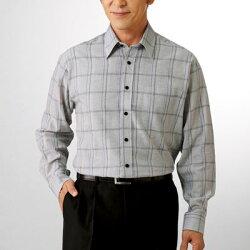 ※お取り寄せ商品です 春夏 ハンティントン クラブ 麻入り格子柄シャツ 同サイズ3色組 メンズ カジュアルシャツ トップス 長袖 シニア グレー ベージュ 送料無料でお届けします チェック 安心の実績 高価 買取 強化中 p16571 ブルー 紳士