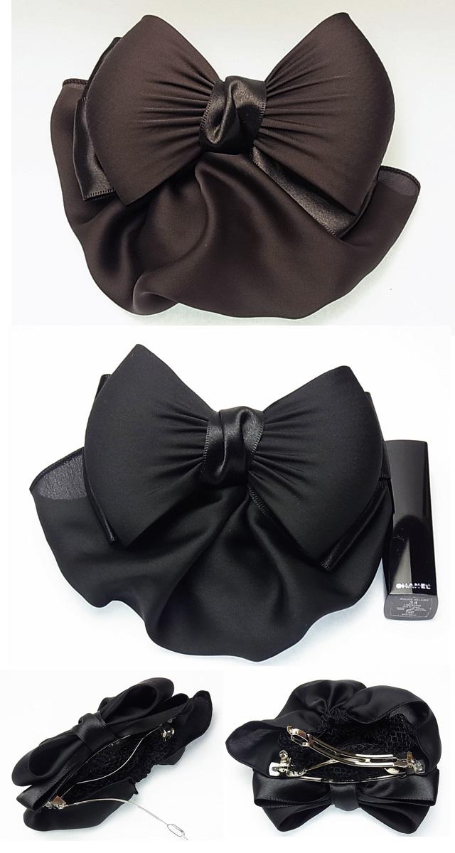 bijinkoeido beauty hair ribbon barrette net plain ribbon with a