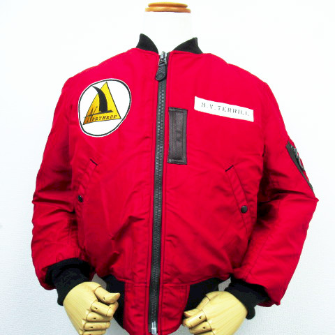 "【ラス1セール!! 】【送料無料】 BUZZ RICKSON'S バズリクソンズ RED MA-1 ""BUZZ RICKSON'S MFG.CORP NORTHROP PATCH"" BR13905"