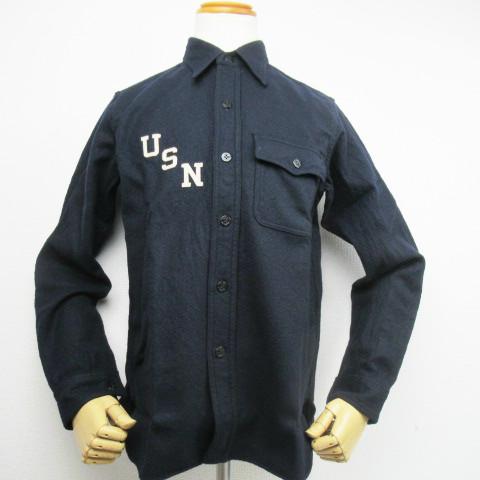 """【 BUZZ RICKSON'S 】【ラス1プライス!!】【送料無料!!】 バズリクソンズ BUZZRICKSON'S  CPOシャツ """"USN AVIATION UNIT"""" ウールメルトン シャツ  BR28220"""
