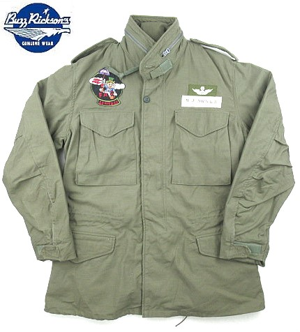 "【 BUZZ RICKSON'S 】【 バズリクソンズ 】【送料無料!!】 BUZZ RICKSON'S COAT,MAN'S,FIELD, type M-65 ""23rd Tactical Air Support Squadron"" バズリクソンズ M-65 カスタムモデル ""23rd Tactical Air Support Squadron""  BR12284"