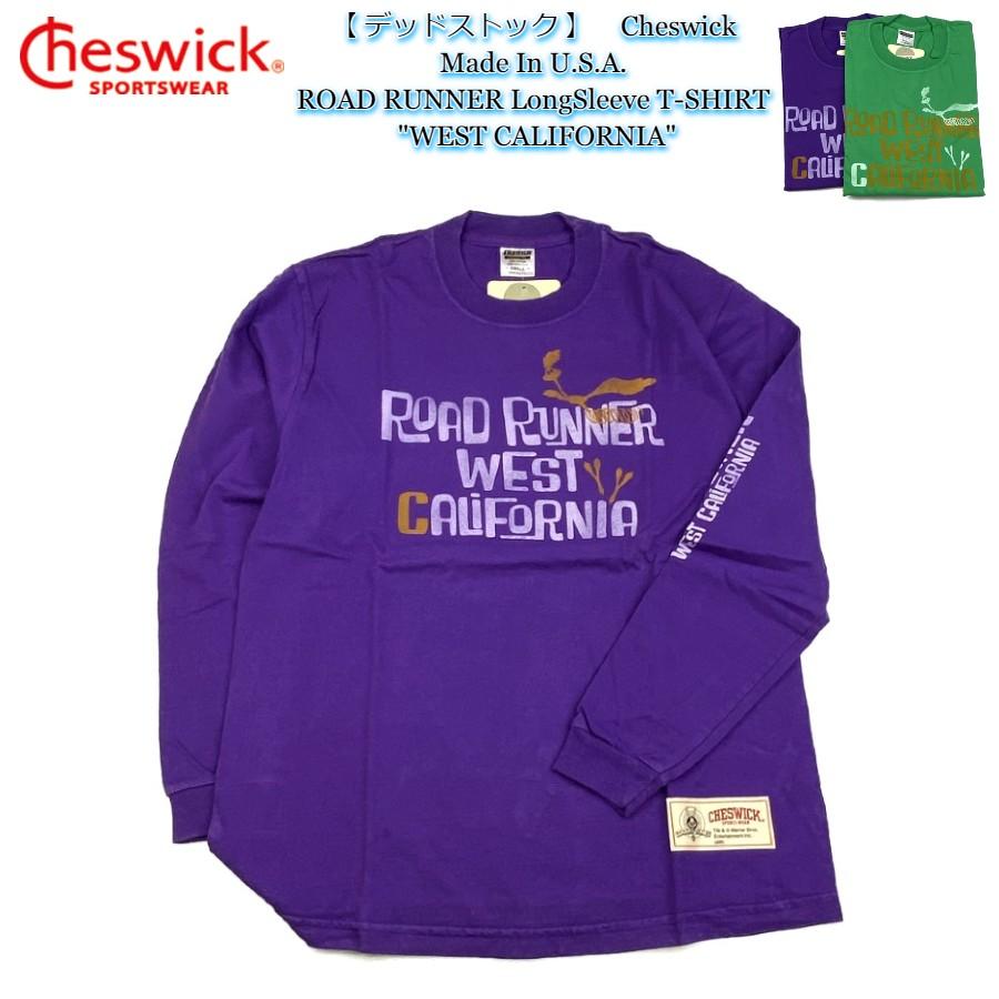 デッドストック Cheswick Tシャツ ゆうパケット送付商品 商い スペシャルプライス 半額 Made In U.S.A. ROAD RUNNER LongSleeve T-SHIRT