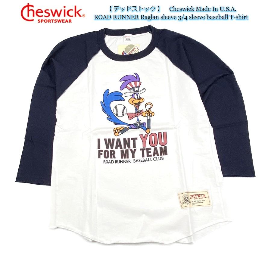 デッドストック Cheswick Tシャツ ゆうパケット送付商品 スペシャルプライス Made In U.S.A. ROAD RUNNER Raglan sleeve 3 タイムセール ラグラン袖 アメリカ製 コットン CH64186 チェスウィック baseball 送料無料 USA製 完全送料無料 4 T-shirt 7分袖 100% プリント