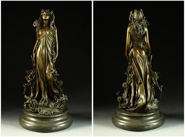 대인기 브론즈상화의 여신상Aldo Vitaleh작 인테리어 조각 동상