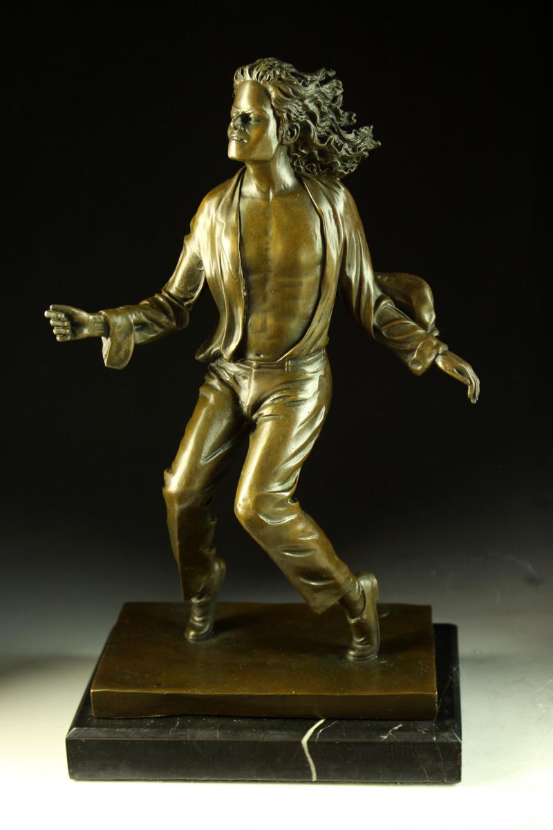 【送料無料】超人気ブロンズ像マイケルジャクソン38cm希少置物彫刻銅像インテリア, ネットdeまつやま:7bf0eb3e --- sunward.msk.ru