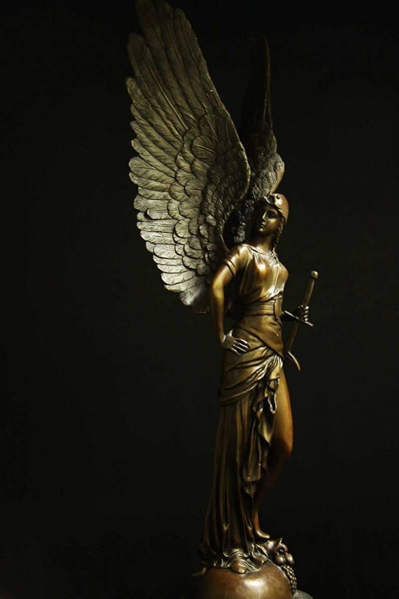 7ca95c667c3c 送料無料】超大型ブロンズ像◇大天使ミカエル◇65cm◇名品-西洋彫刻 ...