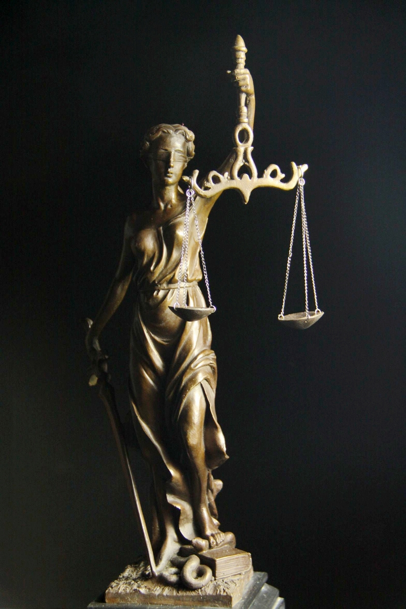【送料無料】大型ブロンズ像◇正義の女神◇Houdon◇44cm
