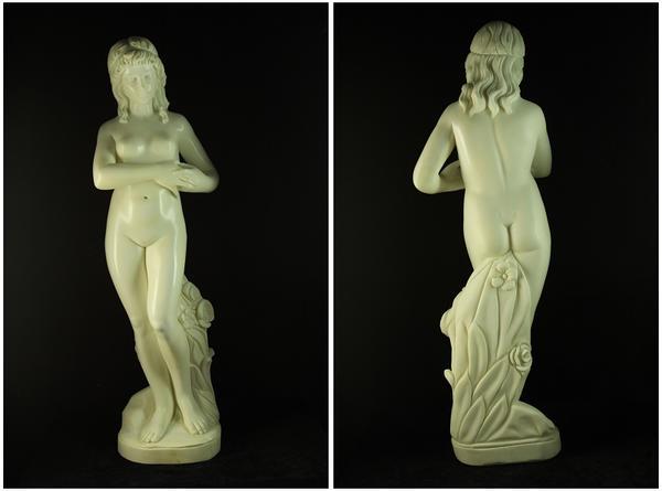 天然大理石彫刻【乙女の像】100cm★75kg