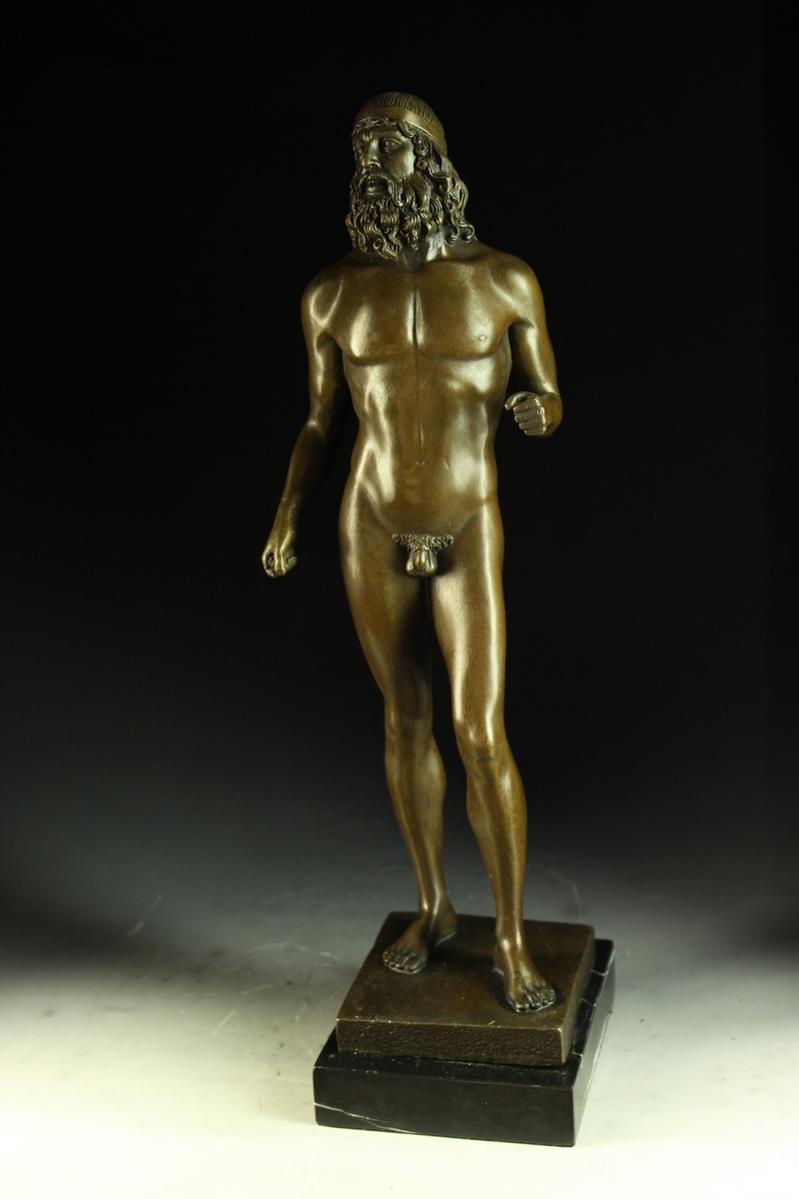 【送料無料】古典ブロンズ「青銅戦士」ギリシャ神話名作42cm, アルバクラブ:ddc50b70 --- sunward.msk.ru