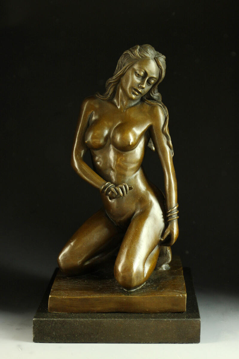 Popular bronze statue-nude-John Koch-6 kg-works