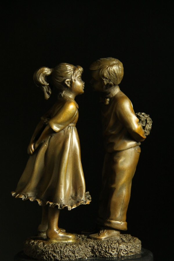 【送料無料】超可愛ブロンズ◇像『少年と少女』26cm◇大名品, 多様な:6ea91704 --- sunward.msk.ru