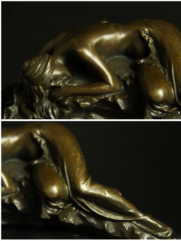 Super popular bronze-statue of 'lying down naked woman' 21 cm-Milo great masterpieces