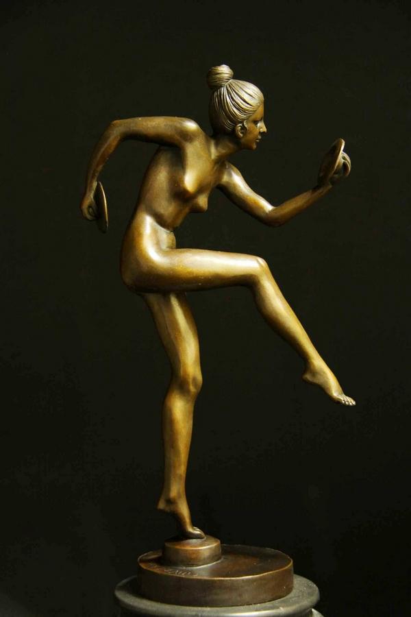 【送料無料】超人気ブロンズ◇像『舞裸婦』38cm