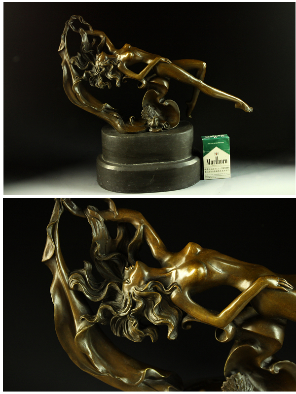 Heavy weight bronze statue-Ma-G... Michiel-10 kg-works