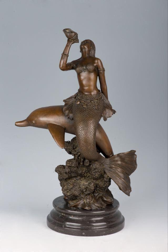 【送料無料 彫刻】超大型ブロンズ像 インテリア 人魚 43.5cm 銅像 milo名作ギリシャ神話 インテリア 彫刻 銅像, Flika:65ebc9a6 --- sunward.msk.ru