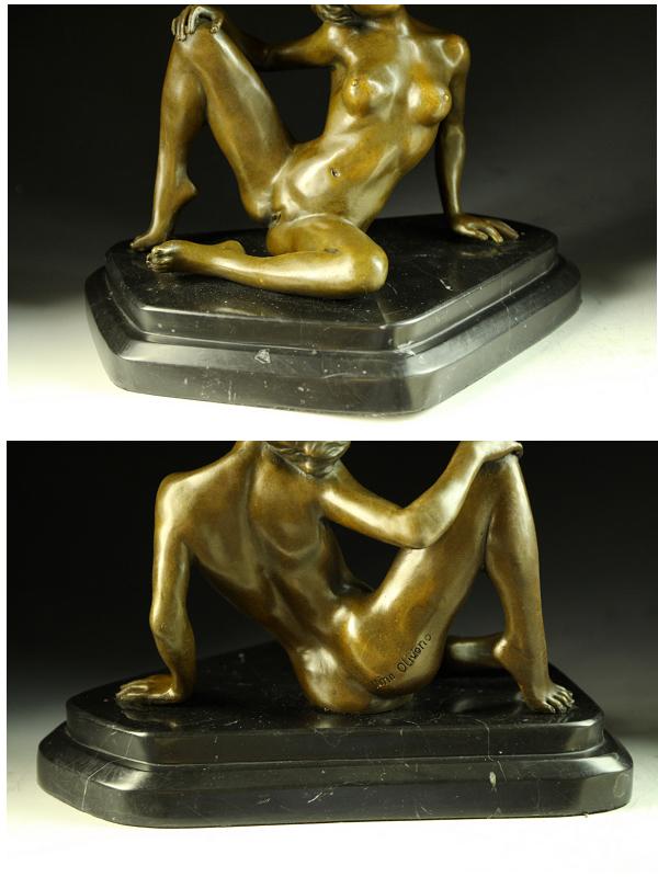 초 인기 브론즈 벌 거 벗은 섹시 여자 Nino Oliviono 명품 조각상 인테리어 조각 인형
