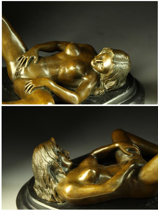 인기 브론즈상 섹시한 누드의 여자 Nino Oliviono 명품