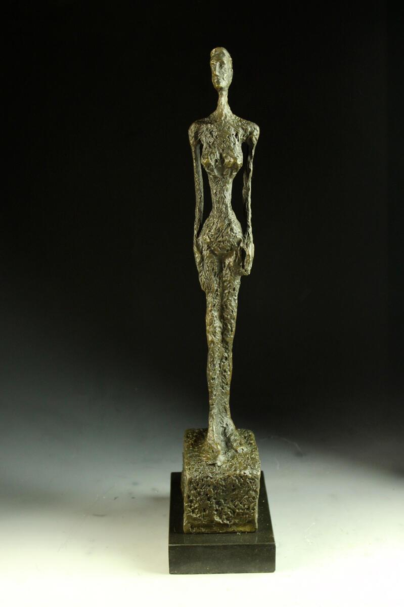【送料無料】超人気ブロンズ像 ヴェニスの女 ジャコメッティ 43cmインテリア 彫刻 銅像