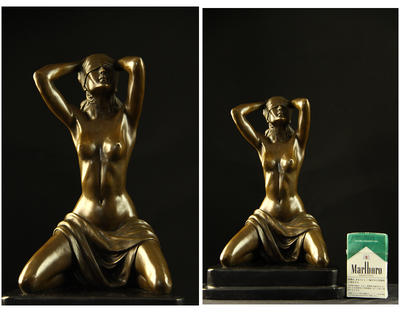 Super popular figure in bronze ◇ nude woman image ◇ Preiss perfect gem