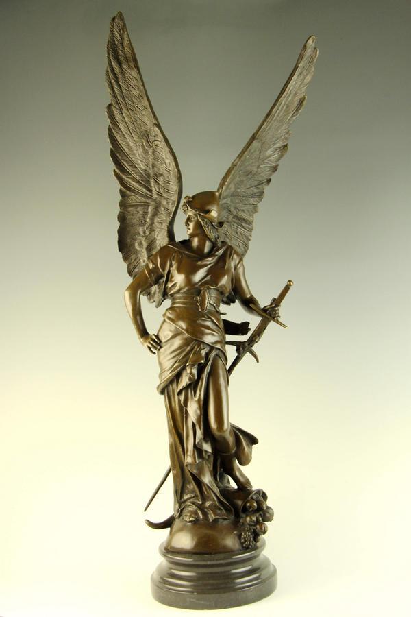 超大型ブロンズ像大天使ミカエル97.5cm26.5キロ