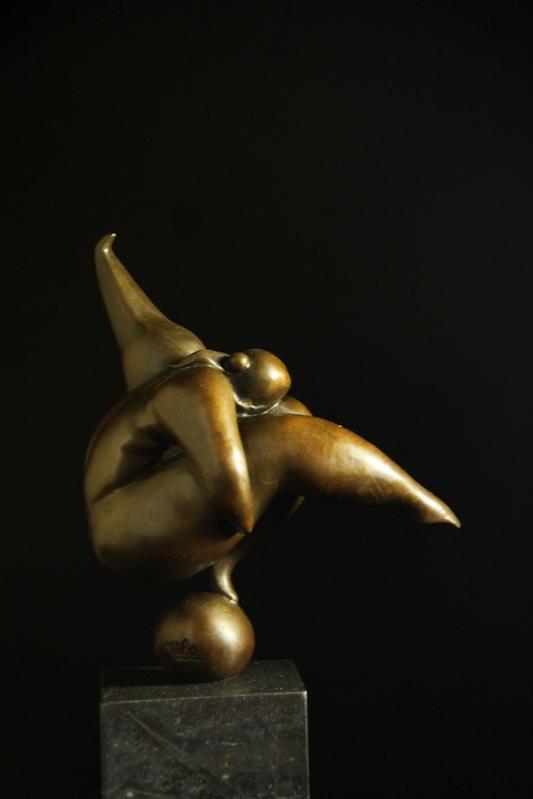 【送料無料】抽象ブロンズ像 ダンサー像 27cm名作miloインテリア 彫刻 銅像