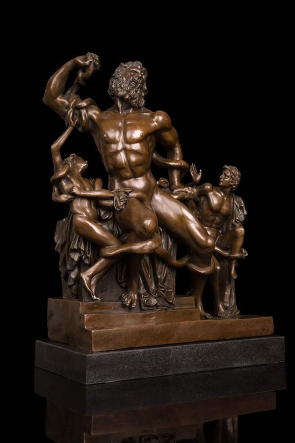 大型ブロンズ像 ギリシャ神話 ラオコーン像 インテリア 彫刻 銅像 52cm 26kg